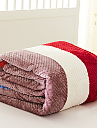 Coral fleece Blue / Multi-color,Yarn-dyed Stripe 70% Acrylic/30% Cotton Blankets S:150*200cm