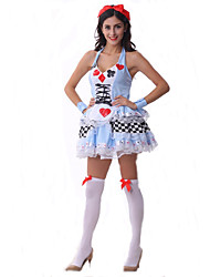 Sexy Queen of Poker Costumes For Halloween French Maids Lolita Fancy Dress
