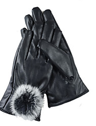 Autumn And Winter Women'S Touch-Screen Bicycle Leather Gloves