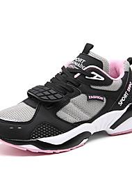Homme-Extérieure Décontracté Sport-Noir Blanc Gris-Talon Plat-Bottes à la Mode-Chaussures d'Athlétisme-Tulle