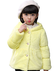 Girl's Casual/Daily Solid Suit & Blazer,Cotton / Spandex Winter Pink / Red / White / Yellow