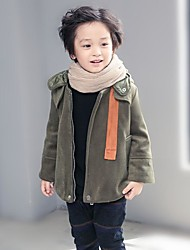 Boy's Casual/Daily Print Down & Cotton PaddedCotton Winter Black / Green
