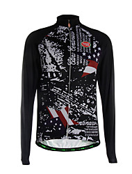 Sports Cycling Jersey Men's Long Sleeve Thermal / Quick Dry /Back Pocket / Ultra Light Fabric Bike