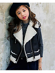 Girl's Casual/Daily Solid VestPolyester Winter Black / Red