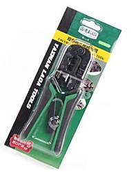 Two-Color Handle 4P / 6P / 8P Three-Use Ratchet Wire Pliers Network Crimping Crimping Pliers Crimping Pliers LA195106