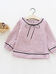 Girl's Casual/Daily Solid Suit & Blazer,Cotton Spring / Fall Pink / White