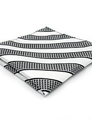 Cravate & Foulard Vintage / Mignon / Soirée / Travail / Décontracté Rayonne,Homme Rayé,Blanc Toutes les Saisons