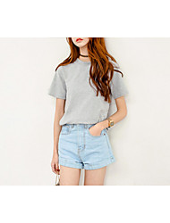 Women's Solid Blue Jeans / Shorts PantsSexy / Cute / Street chic Summer