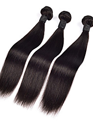 3pcs Malaysian Hair Bundles Weaves Silk Straight Hair Weft 100% Unprocessed Malaysian Human Hair Weft