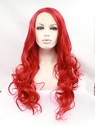 Sylvia Synthetic Lace front Wig Red Heat Resistant Long Curly Synthetic Wigs