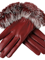 Lovely Velvet Warmer Gloves (Red)