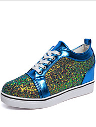 Women's Sneakers Spring Summer Fall Comfort Leatherette Outdoor Casual Flat Heel Lace-up Black Blue Pink White GrayFitness & Cross