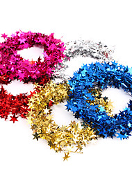 7.5M Weding Decoration Party Use Christmas Decorations 7.5M Wire Christmas Garland Pentagram Star Cross Bracing Pendant