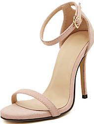 Women's Sandals Spring/Summer/Fall Peep Toe/Sandals Fur Party & Evening Stiletto Heel Sparkling Glitter Black/Gold/Beige
