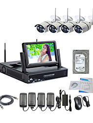 strongshine® Wireless IP Camera con 960p / infrarossi / impermeabile e NVR con display LCD / 2TB kit di sorveglianza hdd 7inch