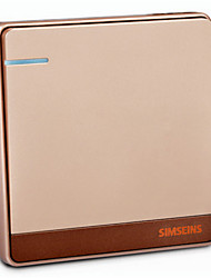 Switch Socket Rose Gold Siemens Q7 An Open Double Control Wall Switch