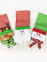 Christmas Decorations Holiday Supplies Santa Suits / Elk / Snowman Textile Brown / Red / White All