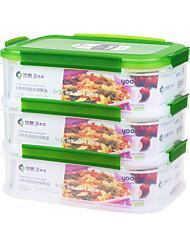 verrouillable conteneur de stockage boîte à lunch contenant pour le fromage (1.6l * 3p)