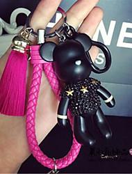 Korean Version Of The Creative Gift Soil Tyrants Bear Key Chain Car Key Chain Tassel Pendant Cute Cartoon Package Hangin