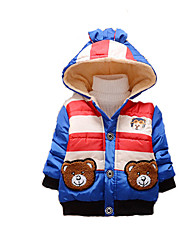 Boy's Casual/Daily Print Down & Cotton PaddedCotton Winter / Spring / Fall Blue / Red