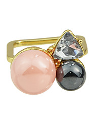 New Imitation Pearl Square Shape Finger Rings for Women
