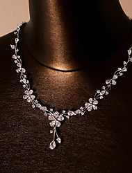 Necklace Jewelry set Jewelry Wedding / Party Fashion Zircon 1set Gift