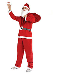 1PC Christmas Clothing 5 Pieces Of Non Woven Clothing For Adults To Perform Costumes Santa Claus Clothes Props