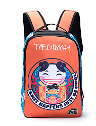 Unisex Nylon School bags Girl and boy Sports / Outdoor Should Backpack Blue / Orange
