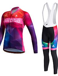 Miloto Camisa para Ciclismo Mulheres Manga Longa Moto Jaqueta Suéter Camisa Pulôver Jaquetas em Velocino / Lã Roupas de Compressão