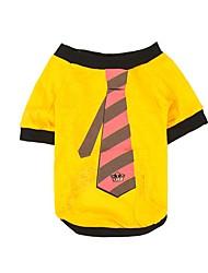 Print Tie Gentleman Dog Clothes Puppy T-Shirt Cat Clothing Pet Shirt Dogs Vest Summer Autumn Jacket Lovely Costume