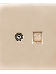 Home Network Cable Power Socket Switch Panel