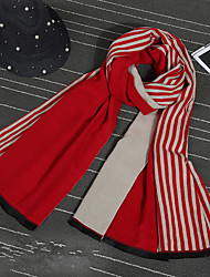 Women Polyester Scarf,Casual RectangleStriped