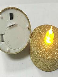 levou espanando as velas eletrônicas vela