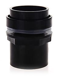 Black Aquarium Fish Tank Connector Plastic PVC Waterproof Accessory 50mm
