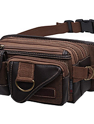 Men Waist Bag Oxford Cloth Sports Outdoor Brown