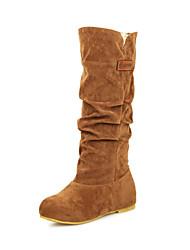 Women's Boots Fall Winter Others Fleece Casual Dress Low Heel Black Brown Yellow Walking