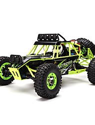 Rock Climbing Car WLToys 12428 1:12 Brush Electric RC Car 50km/h 2.4G Green Ready-To-GoRemote Control Car / Remote Controller/Transmitter