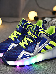 LED Light Up Shoes,Boy's and Girl Walking shoes Spring / Summer / Fall / Winter Novelty PU Casual Flat Heel Hook & Loop