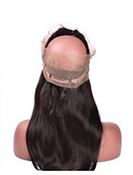 Straight Human Hair 360 Frontal With Ntural Hairline And Baby Hair