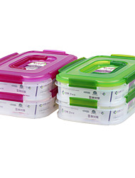 Healthy Food for Lunch Boxes Multi-Function Container with Handle (1.15L*2P)