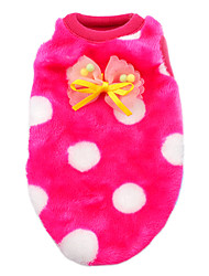 Cat Dog Shirt / T-Shirt Pajamas Dog Clothes Winter Spring/Fall Polka Dots Casual/Daily Rose Blue Pink White/Black