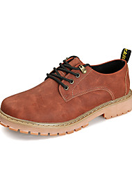 Men's Sneakers Spring / Fall / Winter Others Leather Office & Career / Casual Flat Heel Lace-up Brown / Yellow / Coffee Others