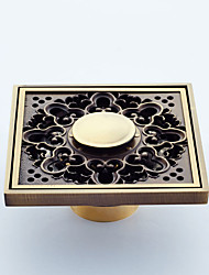 Bathroom Accessory Antique Brass Finish Solid Brass Floor  FH1003