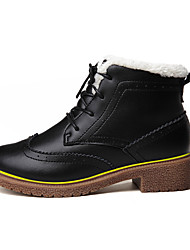 Men's Boots Fall / Winter Comfort Fabric Casual Flat Heel  Black / Brown Sneaker