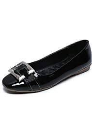 Women's Flats Spring Summer Fall Comfort PU Casual Flat Heel Buckle Black Green Red Gray Others