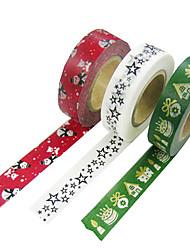 (Nota embalados com 3 cores tamanho misturado 1.000 centímetros * 2 centímetros *) e fita de papel