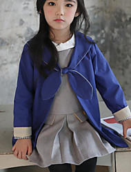 Girl's Casual/Daily Solid Suit & BlazerCotton Fall Blue