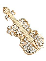 vente chaude cristal brillant chaussures de violon Broche pour les femmes