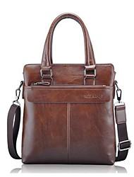 Men PU Office & Career Shoulder Bag Brown / Khaki