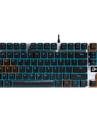 Gaming Keyboard Mechanical keyboard Ergonomic backlight Black Shaft programmable 87keys no conflict